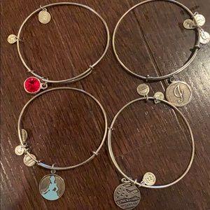 Alex and Ani Bracelets (Silver)